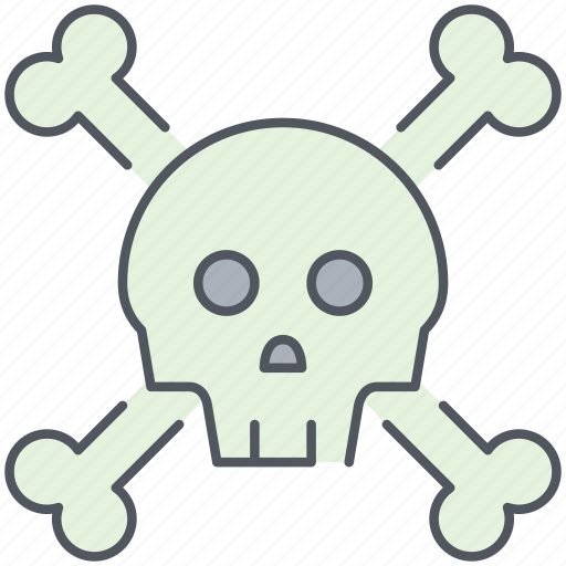 bones, danger, death, hazard, pirates, skeleton, skull icon