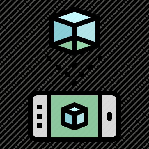 ar, game, halogram, phone, reality, virtual, vr icon
