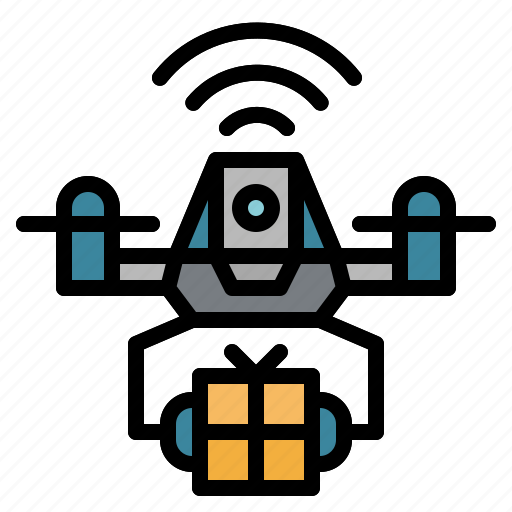 Control, delivery, drone, package, remote, transportation icon - Download on Iconfinder