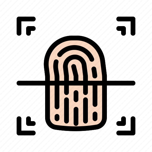 detective, evidence, fingerprint, identification, interface icon