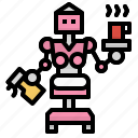 electronics, home, maid, robot, robotics, science, technology icon