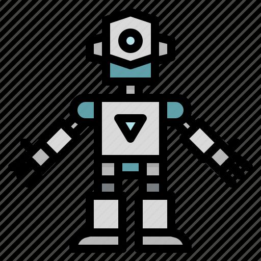 children, metal, robot, robots, technology, toy icon