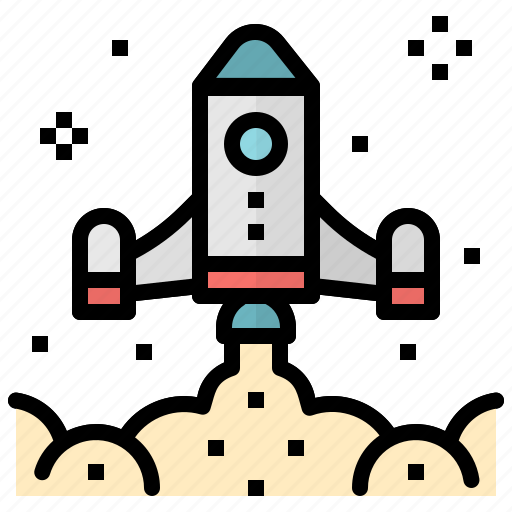 launch, rocket, ship, space, startup, transport icon