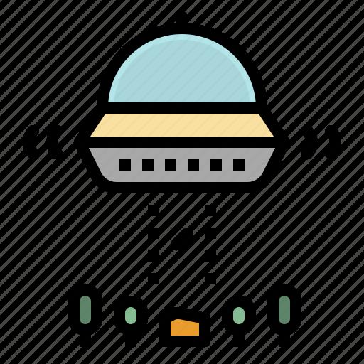 alien, extraterrestrial, spaceship, transport, transportation, ufo icon