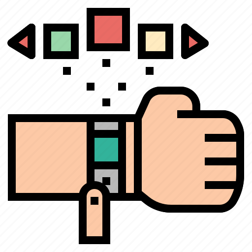 coding, future, smart, technology, watch, wristwatch icon