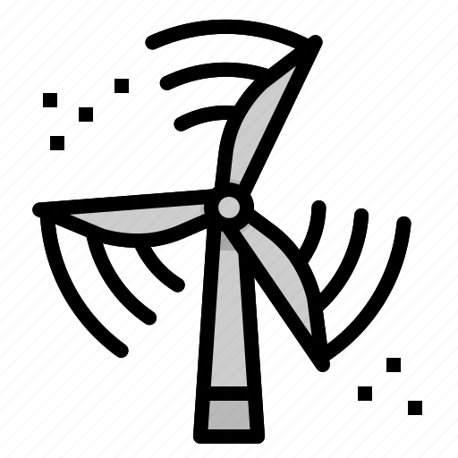 Ecological, ecology, eolian, landscape, technology, windmill icon - Download on Iconfinder