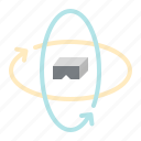 option, multimedia, miscellaneous, vr, degrees, arrow, interface