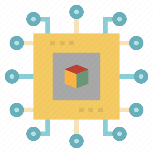 chip, cpu, electronic, processor, technology icon