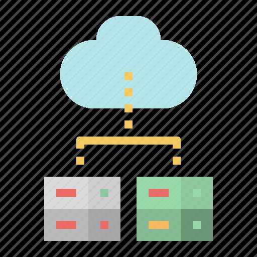 cloud, computer, data, download, storage, transfe icon