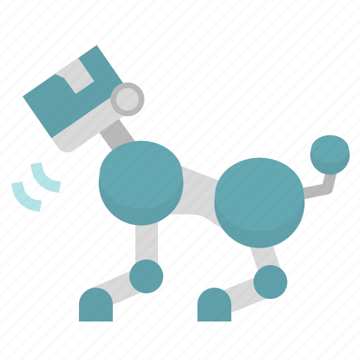 dog, electronics, friend, robot, science, technology icon