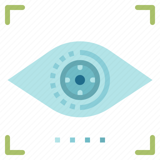 detection, eye, protection, scan, security, technology icon
