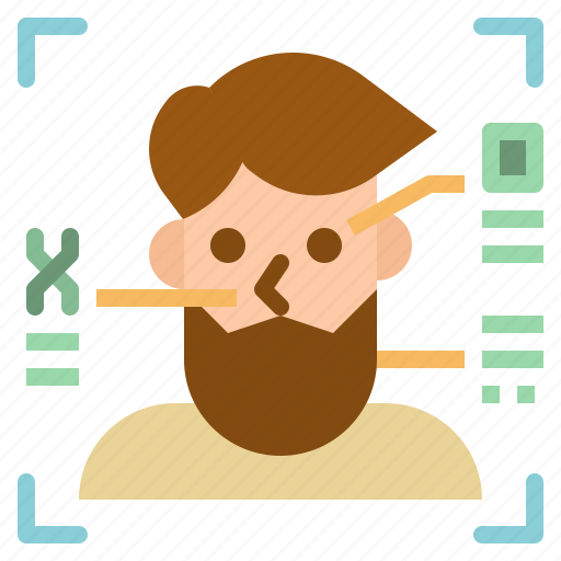 avatar, electronics, face, profile, scan, security, user icon