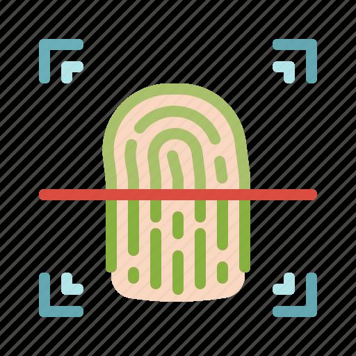 detective, evidence, fingerprint, identification, interface icon
