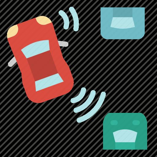 ai, artificial, intelligence, parking, self, sensor icon