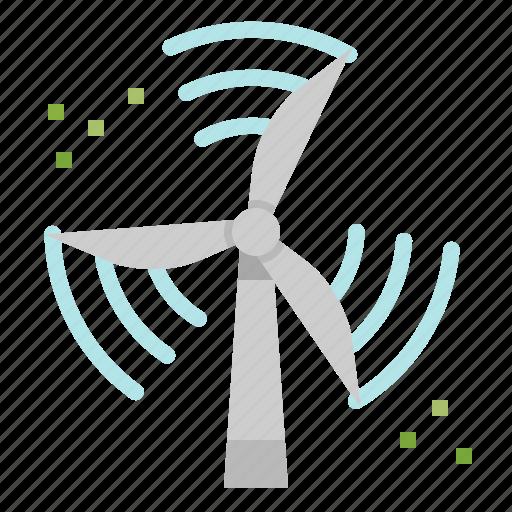 ecological, ecology, eolian, landscape, technology, windmill icon