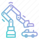 arm, electronics, industrial, industry, laboratory, mechanic, robot icon