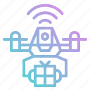 control, delivery, drone, package, remote, transportation icon