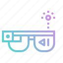 computer, computing, digital, glasses, google, technology icon