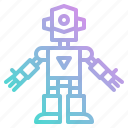 children, metal, robot, robots, technology, toy icon