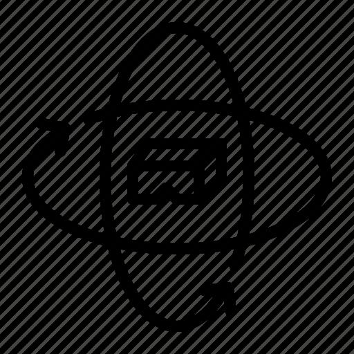 arrow, degrees, interface, miscellaneous, multimedia, option, vr icon
