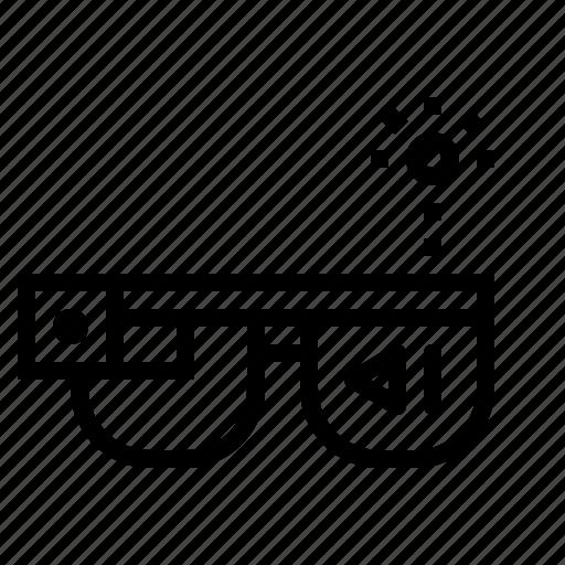 computer, computing, digital, glasses, google, technology icon