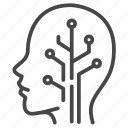 android, artificial intelligence, engineer, intelligence, robot, robotic, technology icon