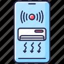 air conditioner icon, climate control, remote ventilation access, smart air conditioner