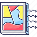 air conditioner, air conditioner icon, picture frame, ventilation icon