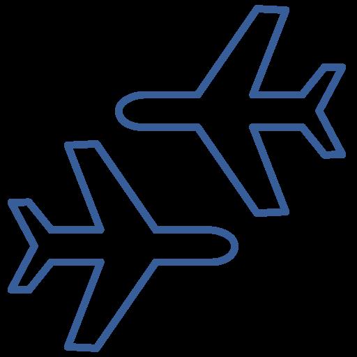 airplane, bag, journey, return, round-trip, travel, trip icon