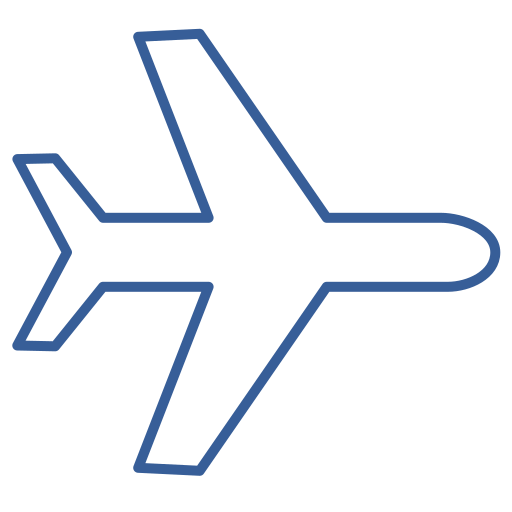 Airplane, flight, journey, plane, way, transportation icon - Free download
