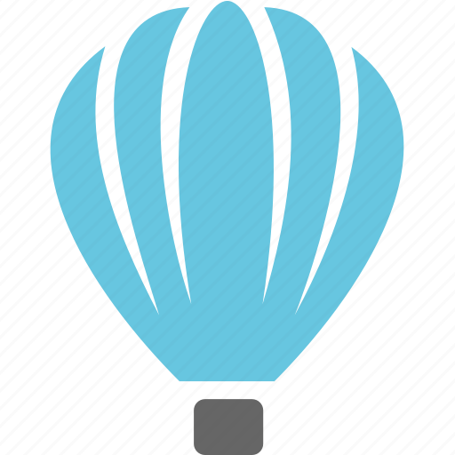 aviation, hot air balloon, transport, travel icon