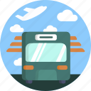 transport, automobile, bus, airport icon
