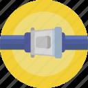 safety belt, seat belt, airport, buckle icon