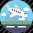 airplane, plane, landing, runway, aeroplane, airport