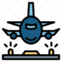 aeroplane, airplane, airport, transport icon