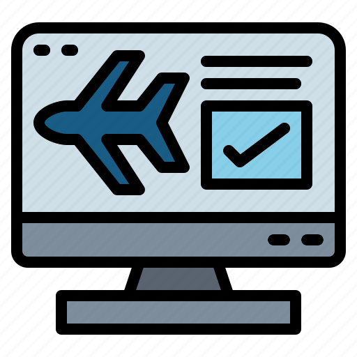 booking, check, online, reservation icon
