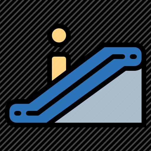 direction, escalator, scroll, up icon