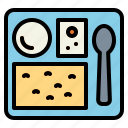 food, meal, plane, tray icon