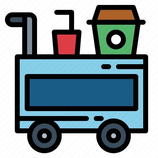 dinner, food, room, service, supper, trolley icon