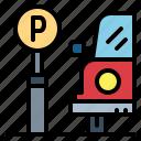 car, parking, signaling, vehicles icon