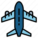 airport, flight, plane, travel icon