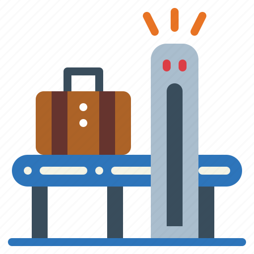 airport, conveyor, scan, travel icon