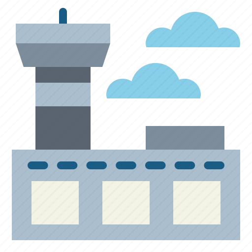 airport, building, terminal, travel icon