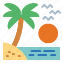 beach, holiday, summer, travel icon
