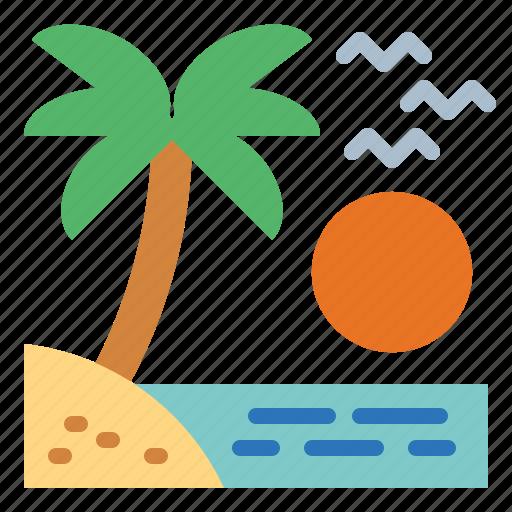 beach, holiday, summer, travel icon