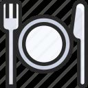 airport, cutlery, dinner, food