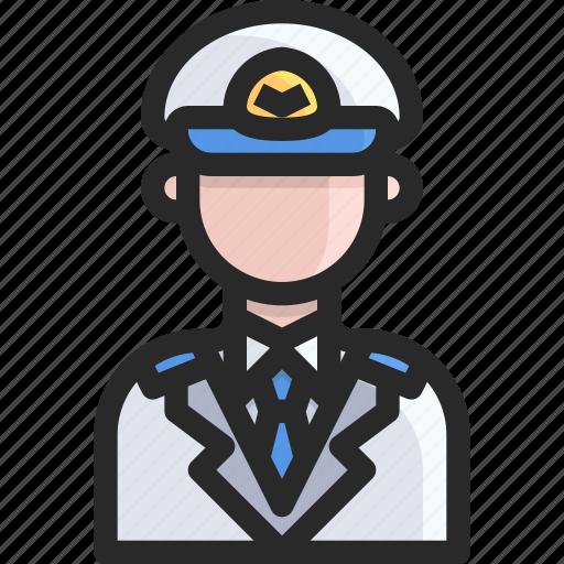 airport, avatar, pirot icon