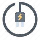 area, battery, charge, plug, power icon