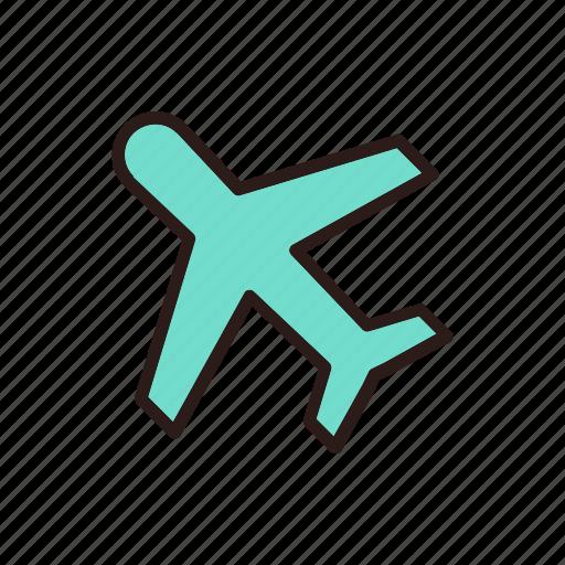 airplane, airport, baggage, flight, plane, transportation icon