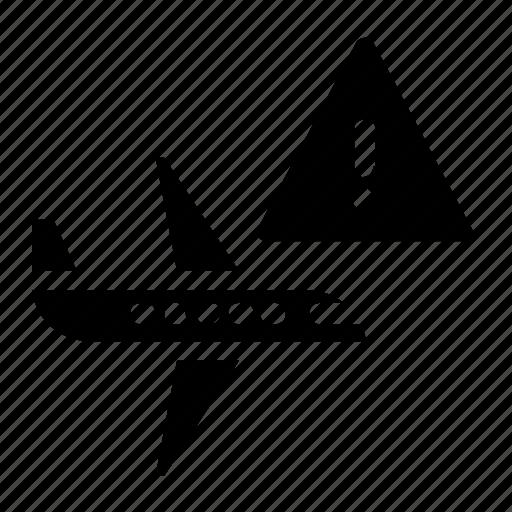 airplane, alert, plane icon